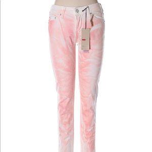 Levi's color washed / tye die skinny jeans